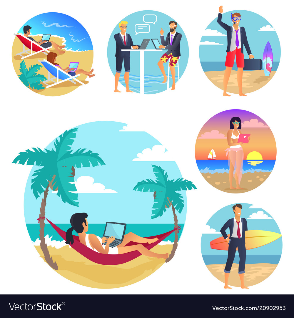 Business trip vacations poster