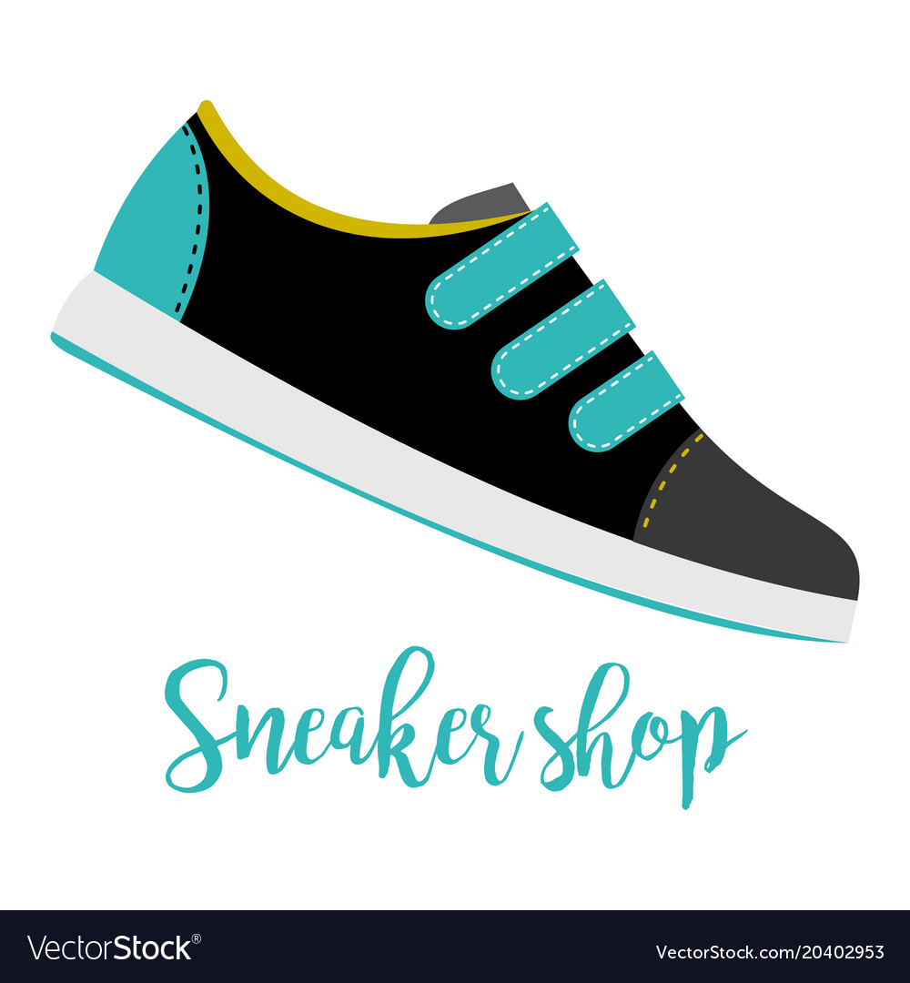 Shoes with text sneaker shop
