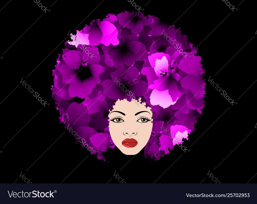Silhouette portrait girl beauty center concept