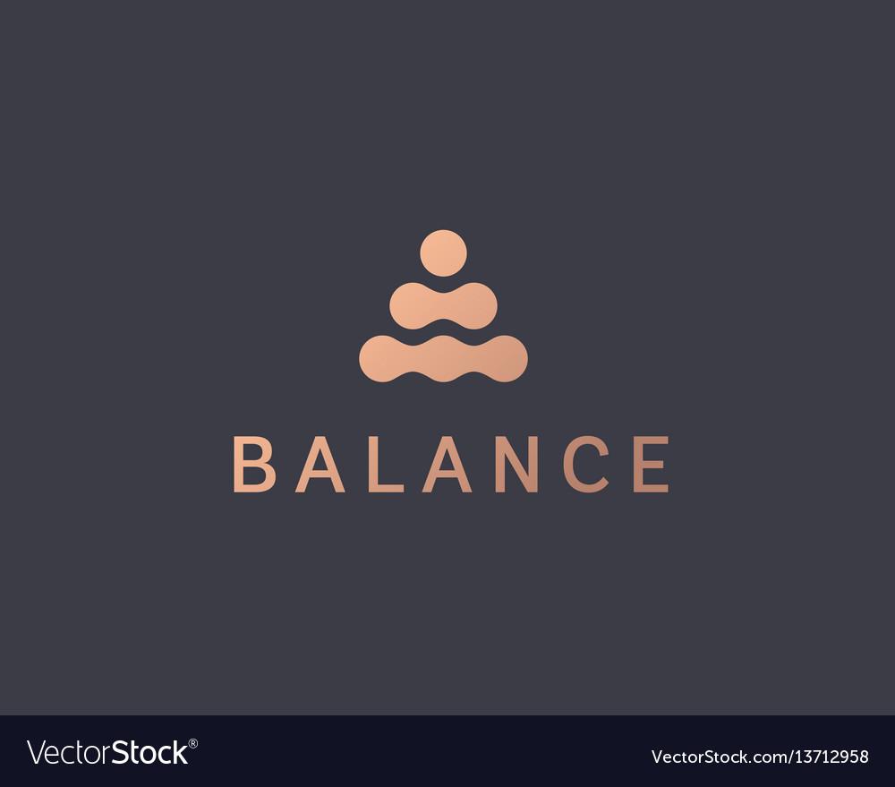Abstract balance logo design template spa