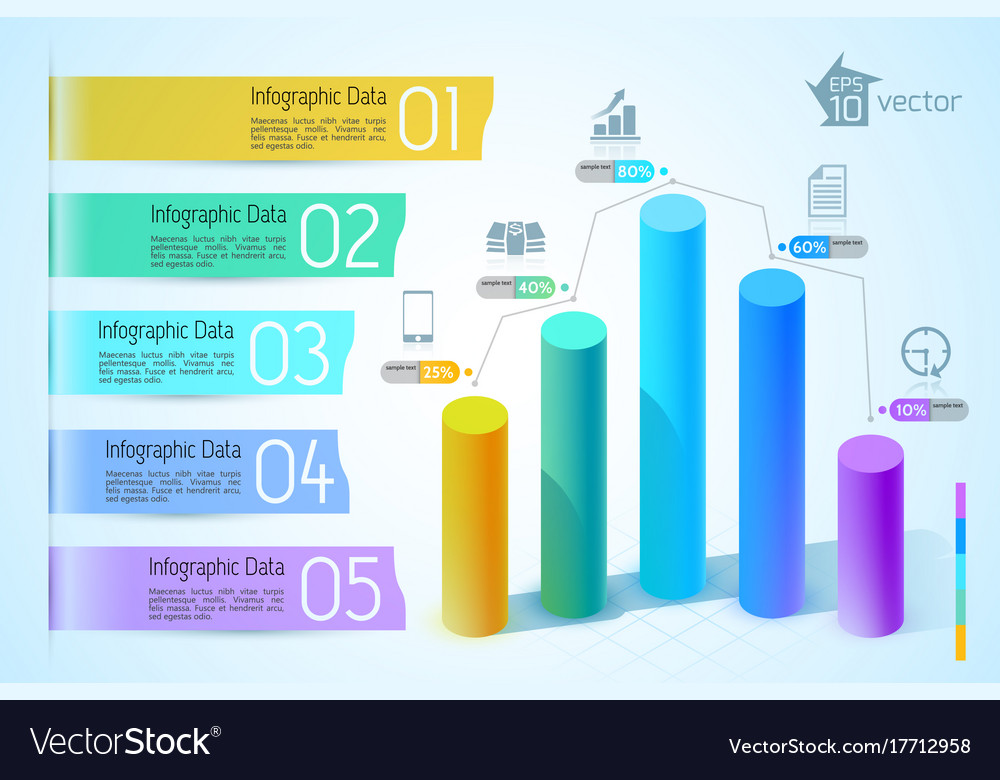 business chart and graph infographics royalty free vector