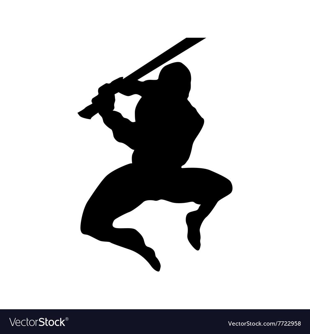 Samurai silhouette black
