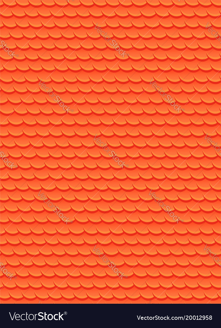 Seamless texture with red fish scales background