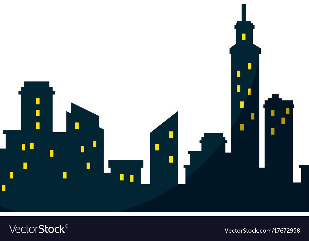silhouette of city buildings icon royalty free vector image rh vectorstock com victor building department victor building department