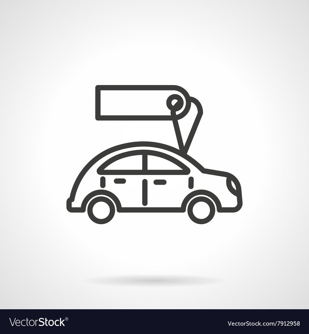 Used Car Sales Black Line Design Icon Royalty Free Vector
