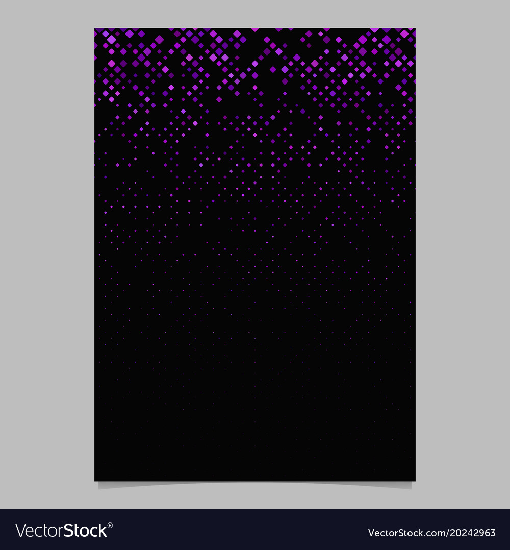 Abstract diagonal square pattern flyer background vector image