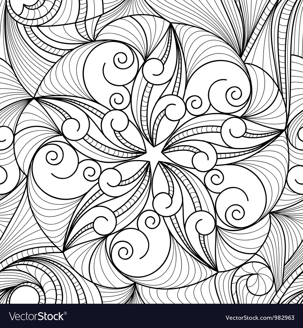 Drawing pattern vector image