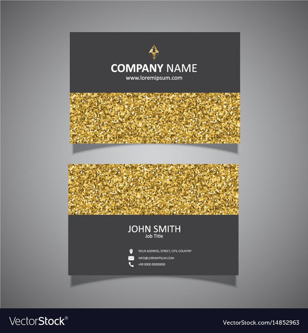 Gold glitter business card design royalty free vector image gold glitter business card design vector image colourmoves