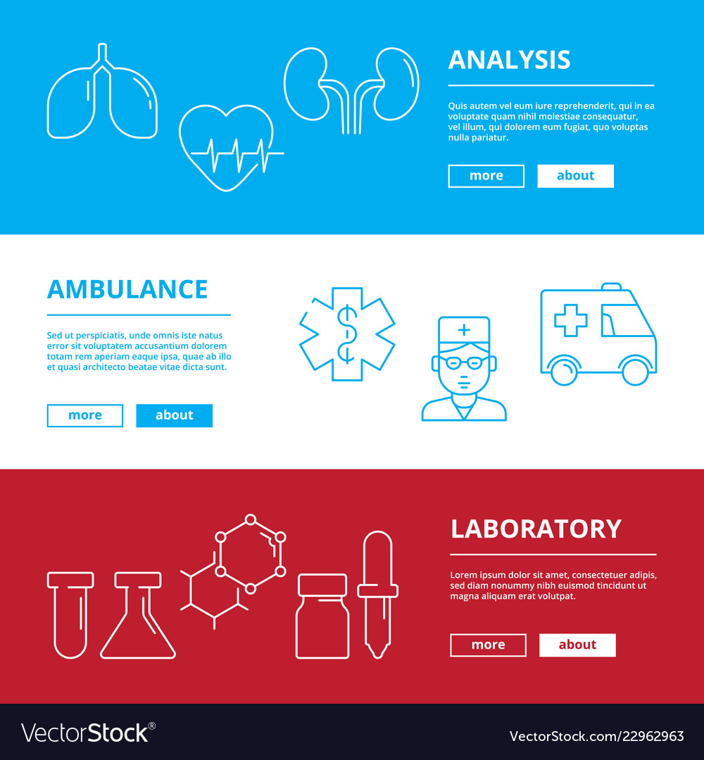 Medical web banners healthcare