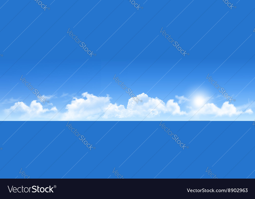 Nature background with blue sky and clouds
