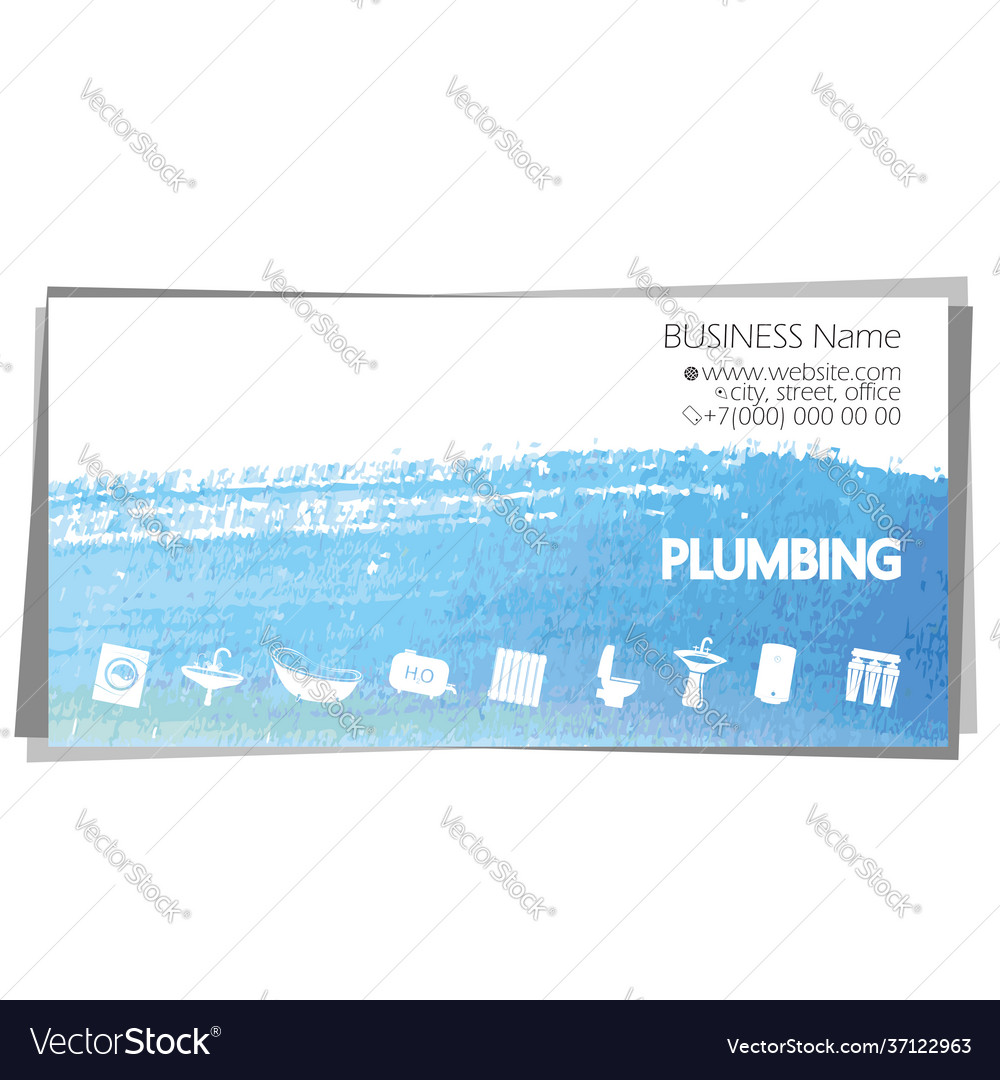 Plumbing home repair and service business card