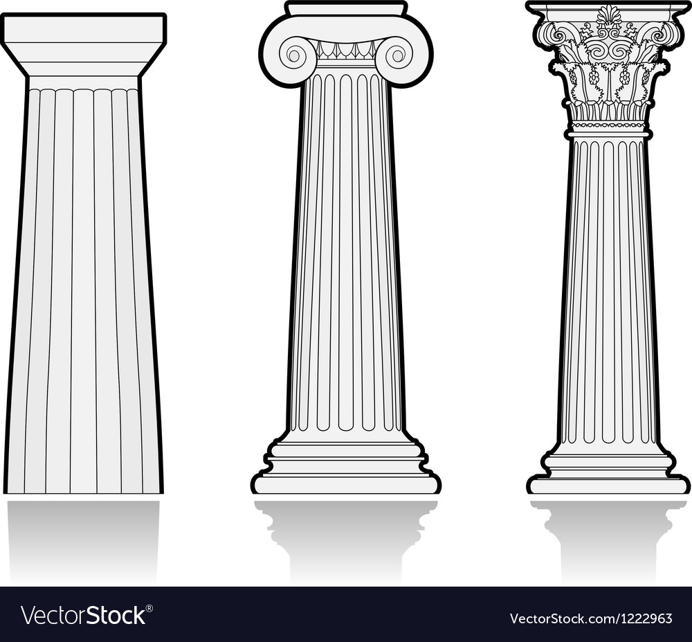 stylized greek columns vector 1222963