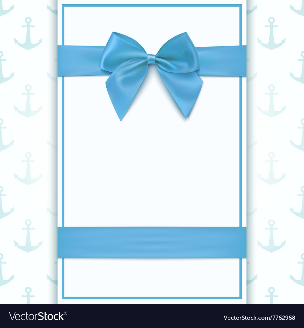 Blank Greeting Card Template Royalty Free Vector Image