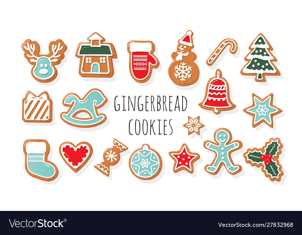 Christmas gingerbread cookies big set traditional