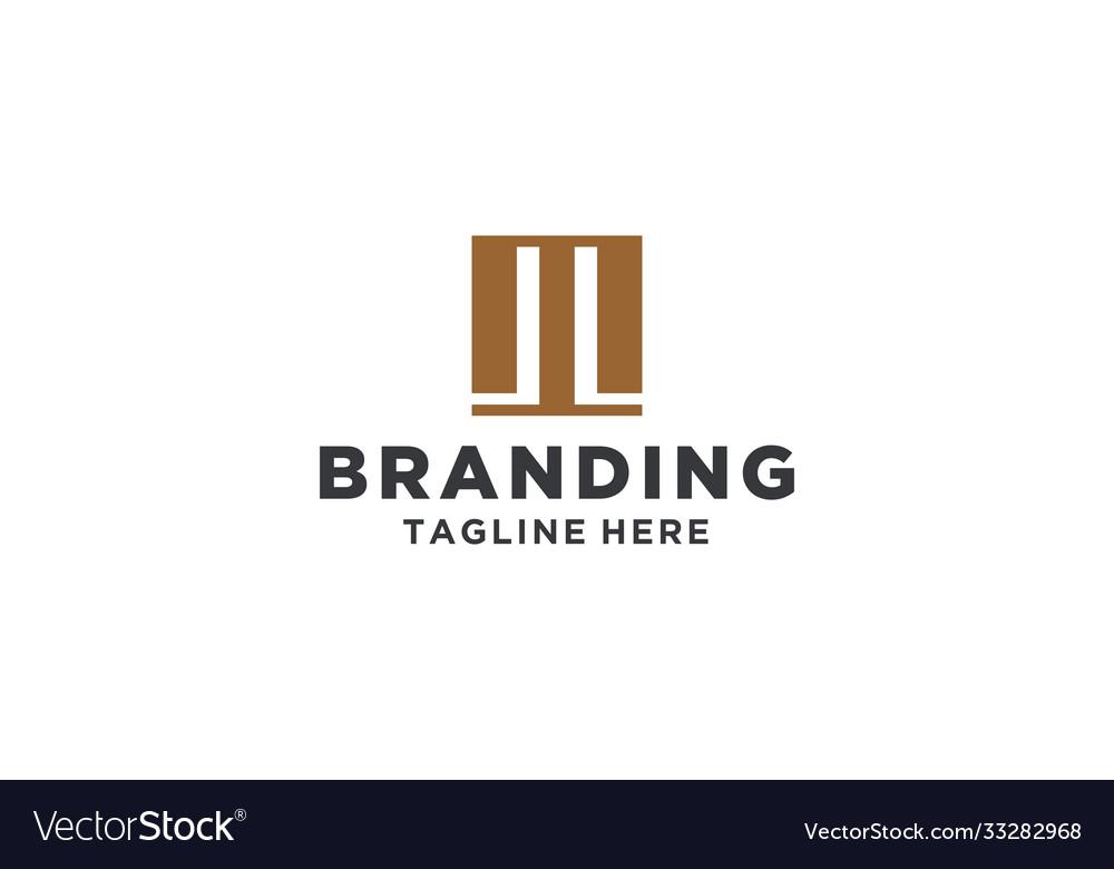 M or ml square legal logo design inspiration