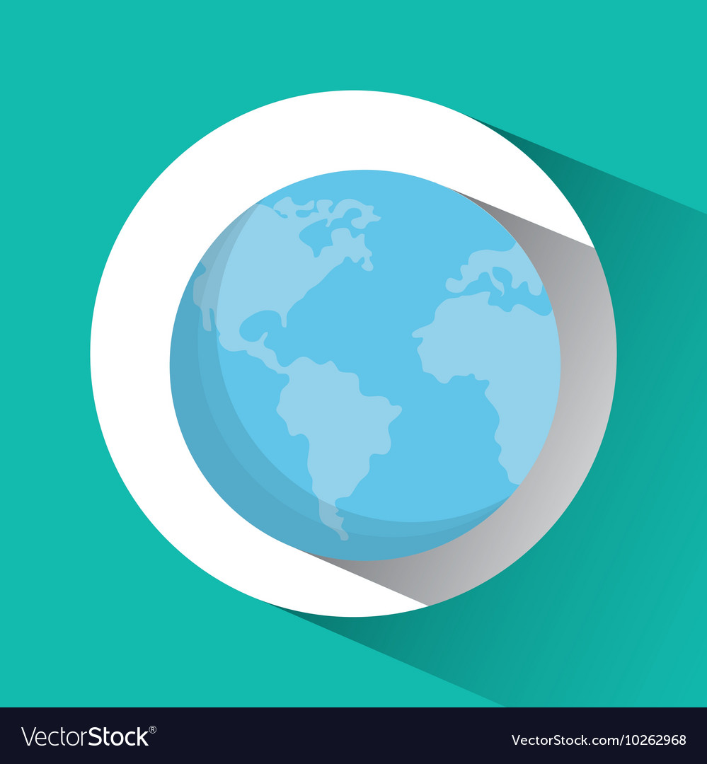Planet earth blue sphere icon graphic vector image