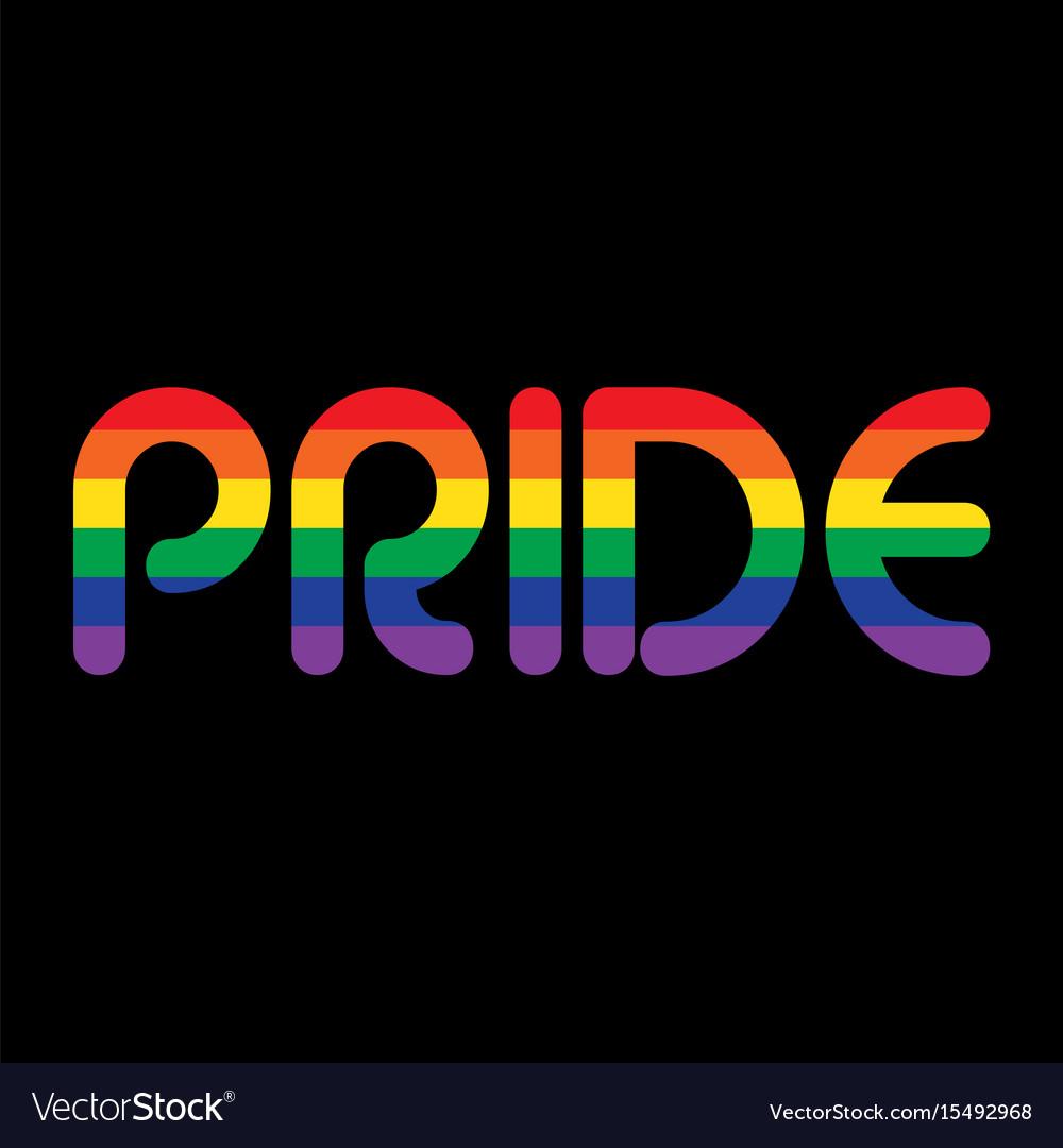 Rainbow pride on black