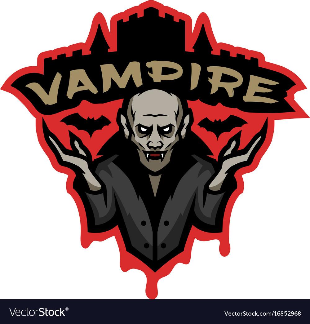 Vampire emblem on a dark background