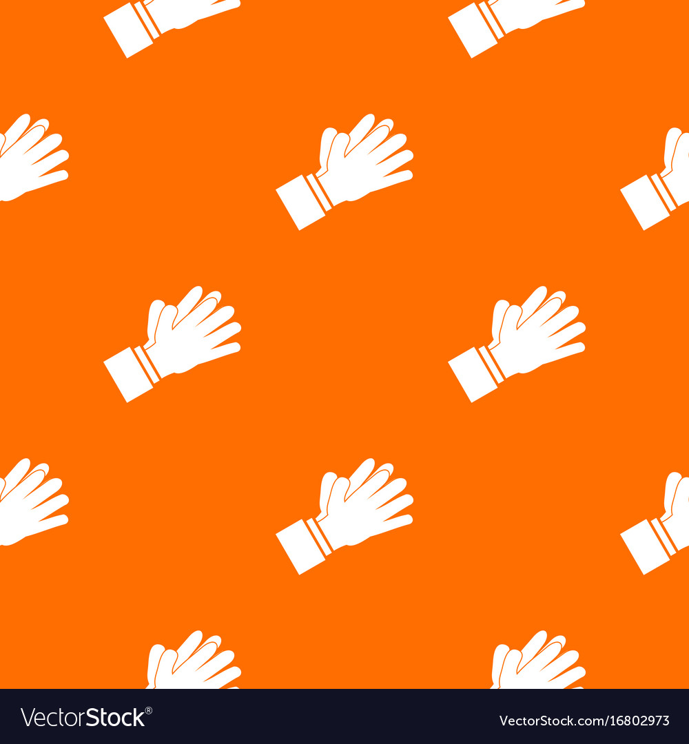 Clapping applauding hands pattern seamless