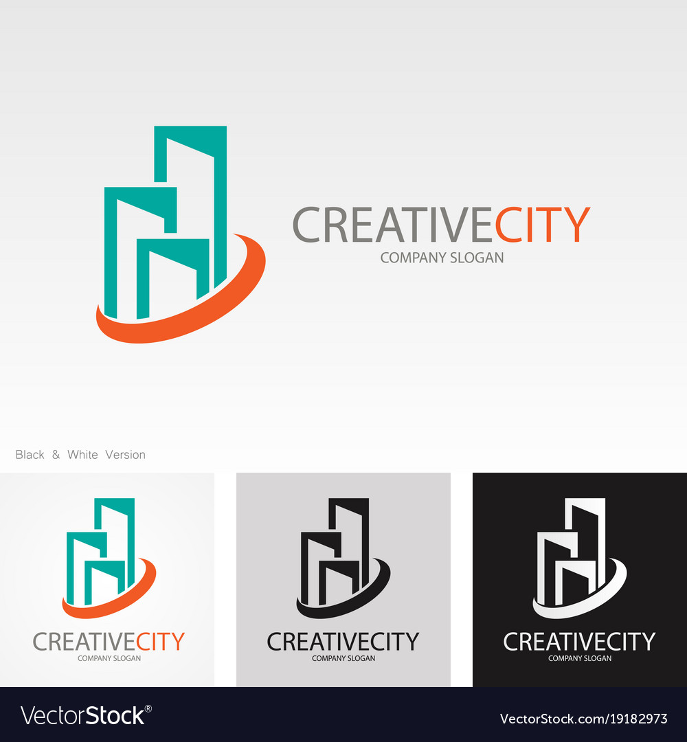 Creative building cityscape logo