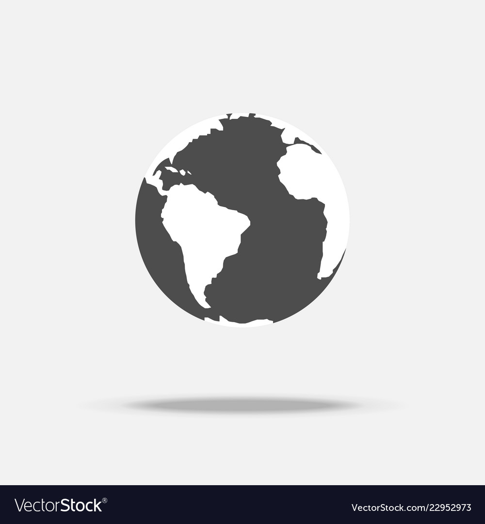 Earth icon with shadow