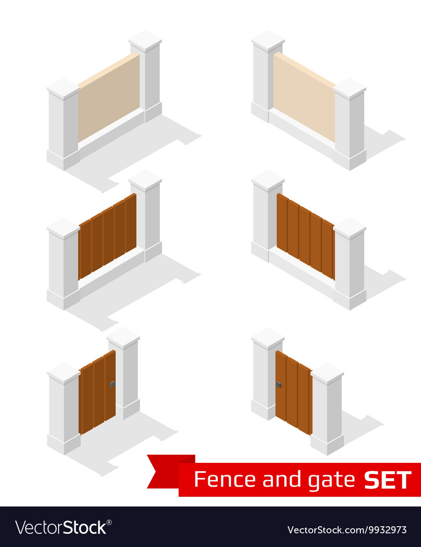Isometric fence and gate