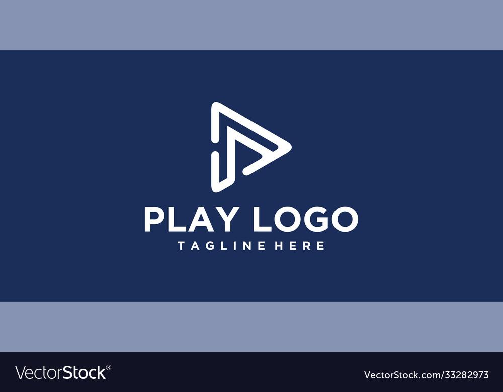 Line p play logo design inspiration