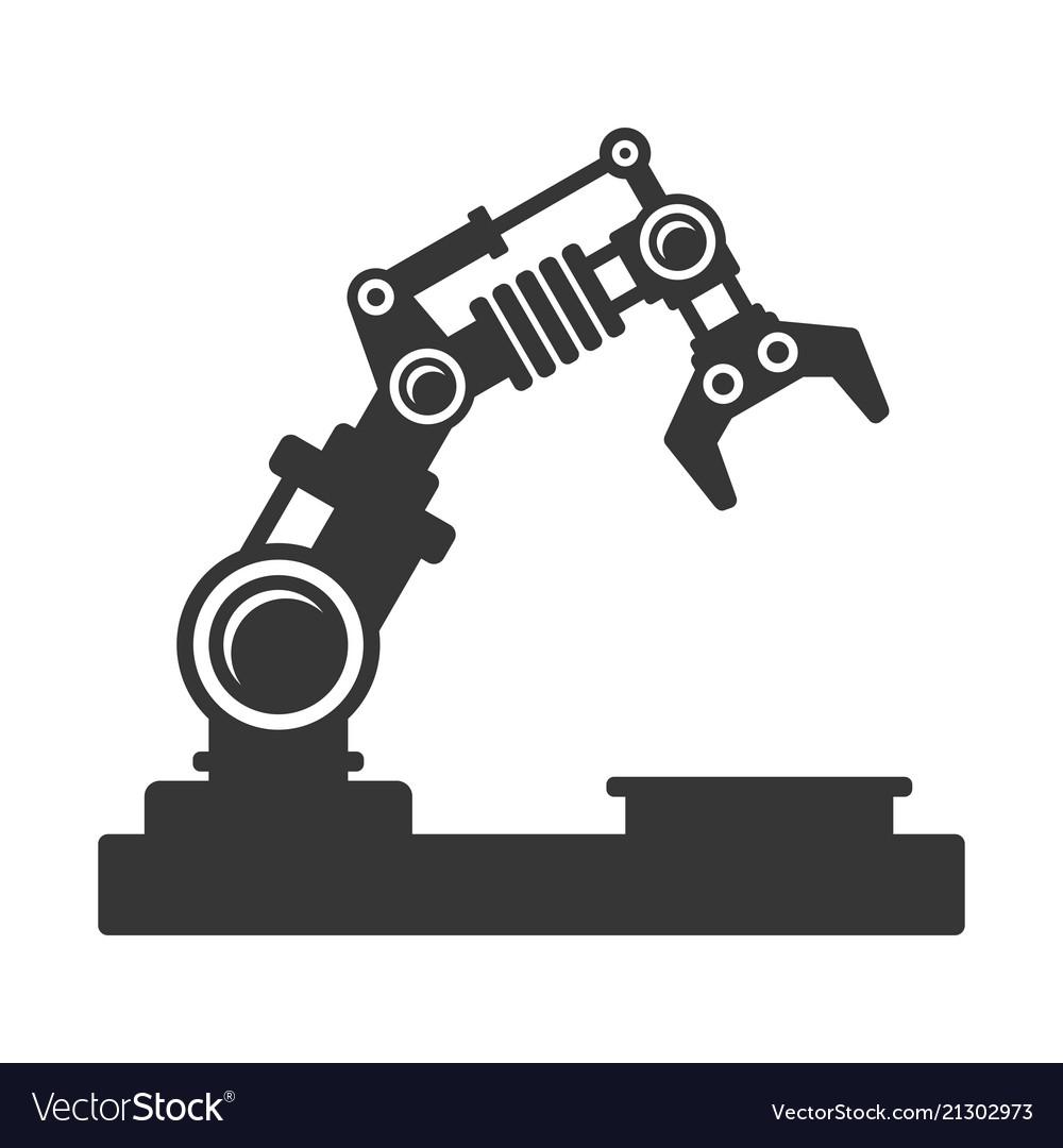 Mechanical robot arm icon