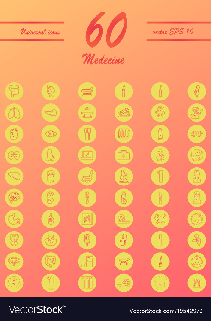 Medicine and health care thin icons set