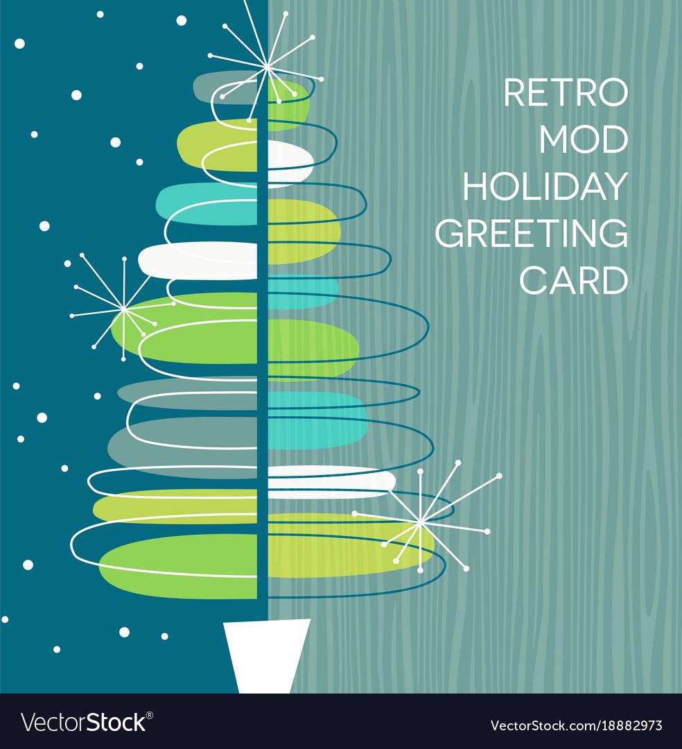Retro abstract christmas tree design