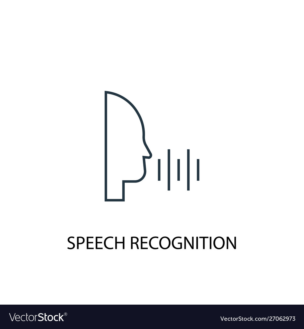 Speech recognition concept line icon simple
