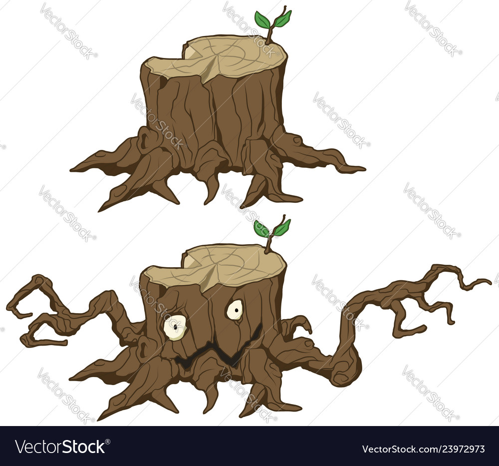 Tree Stump Monster Cartoon Royalty Free Vector Image 1,058 cartoon tree 3d models available for download in any file format, including fbx, obj, max, 3ds, c4d. vectorstock