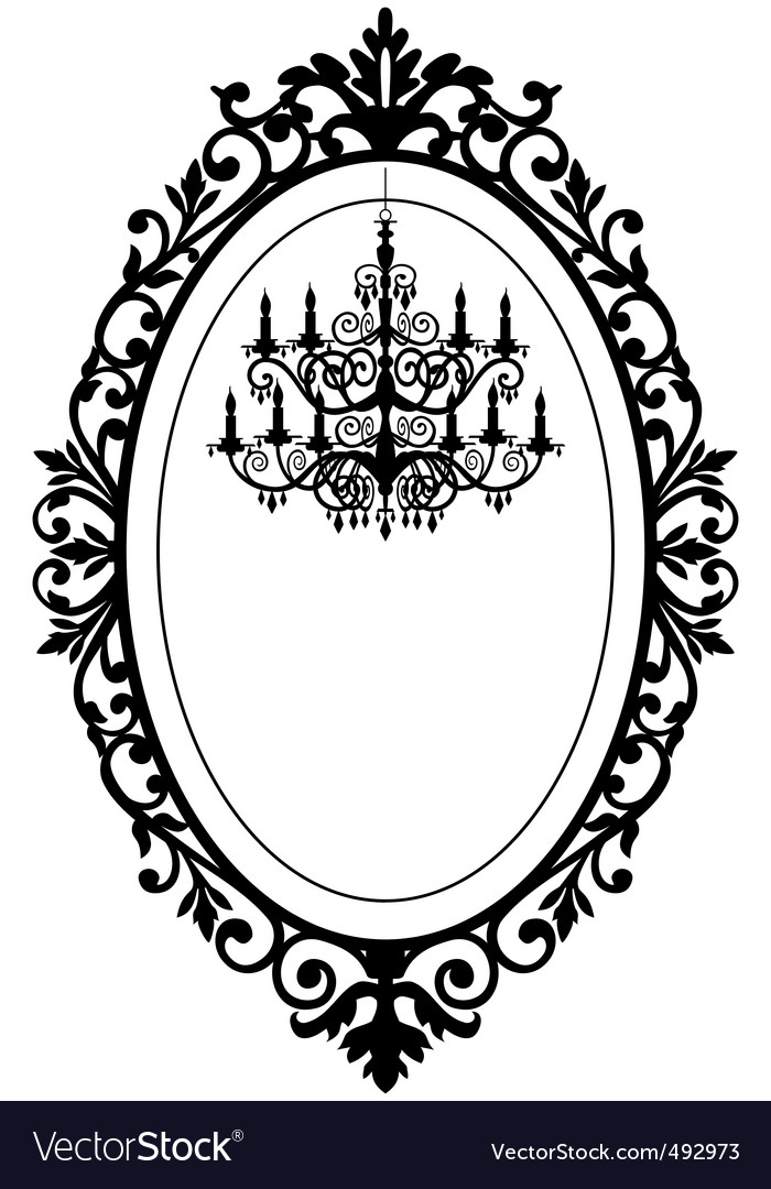 Vintage frame with chandelier Royalty Free Vector Image