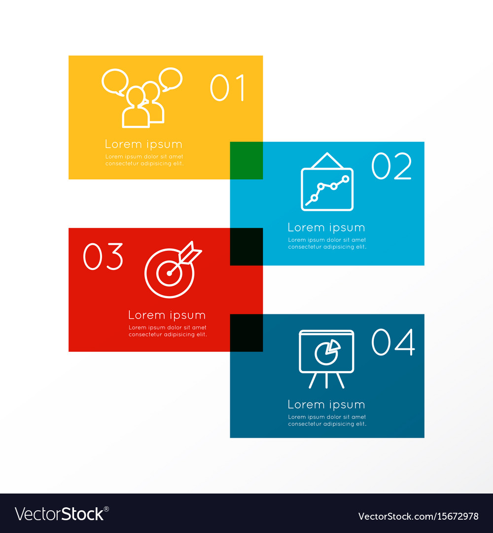 Abstract business infographics options template