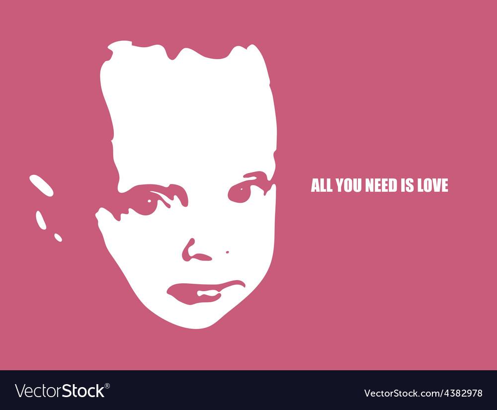 Child head silhouette vector image