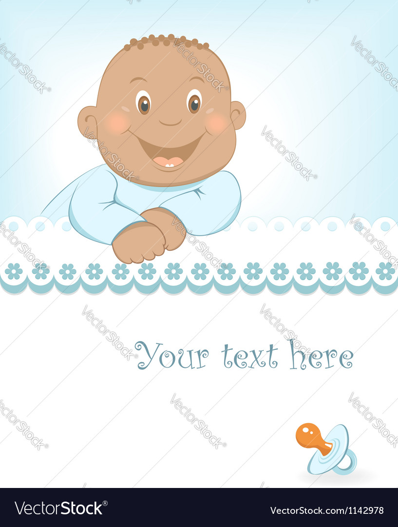Happy African baby boy arrival announcement