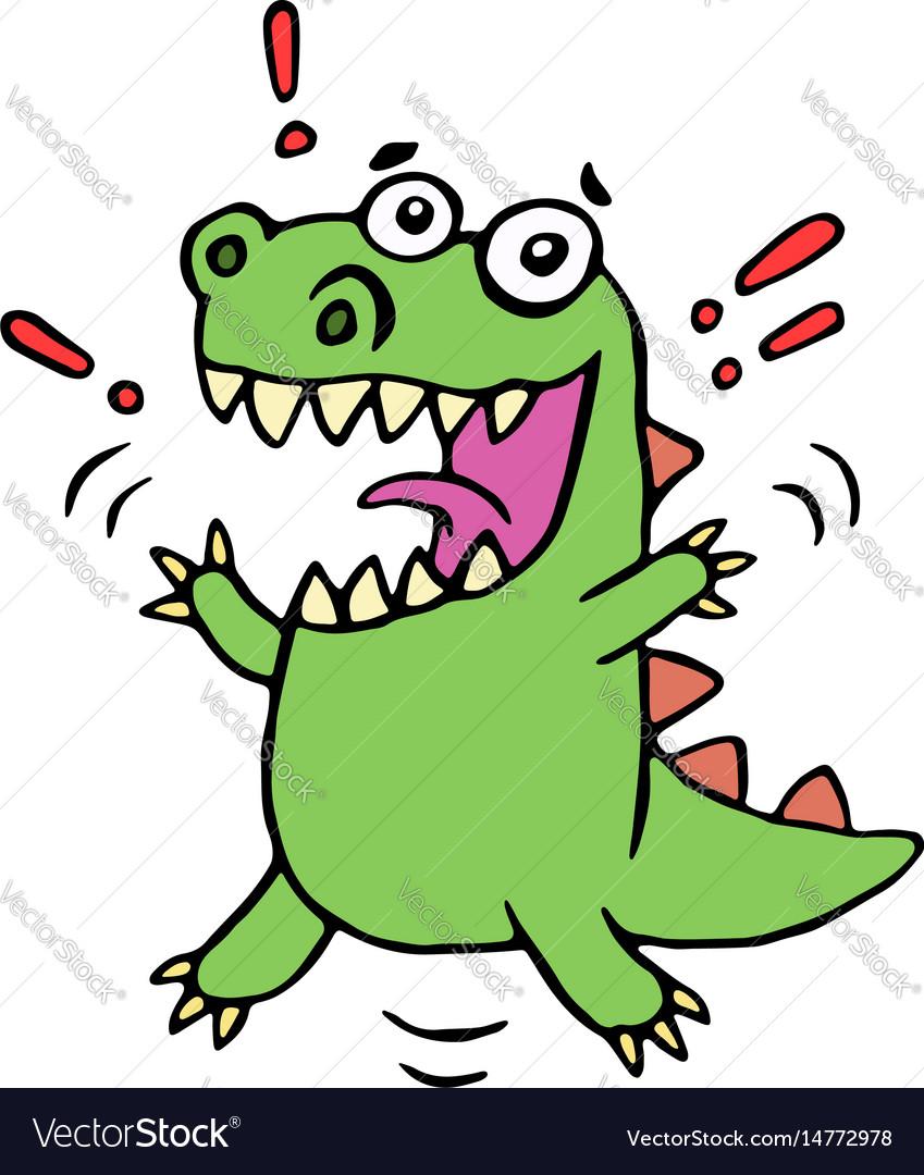 Lucky smiling dinosaur vector image