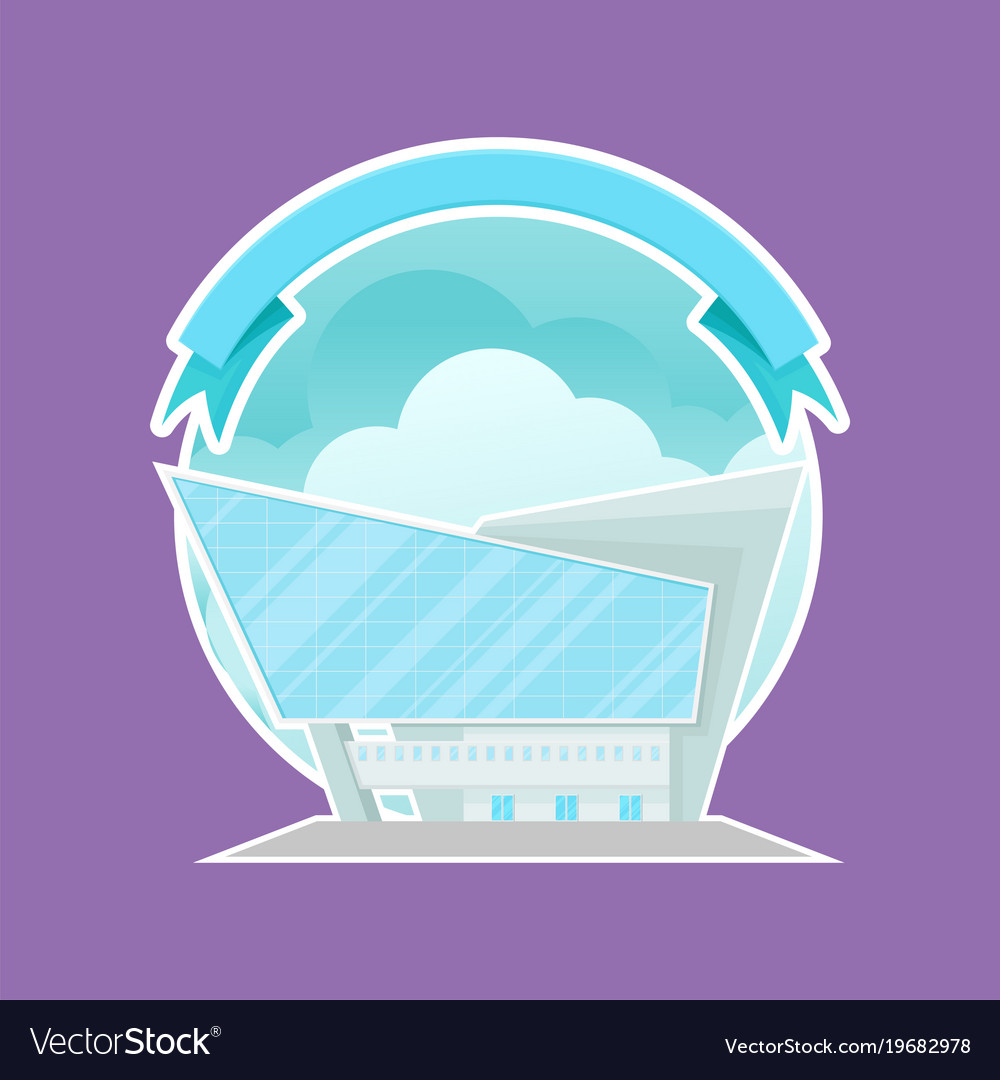 Four Cartoon Office Buildings Royalty Free Cliparts Vectors And