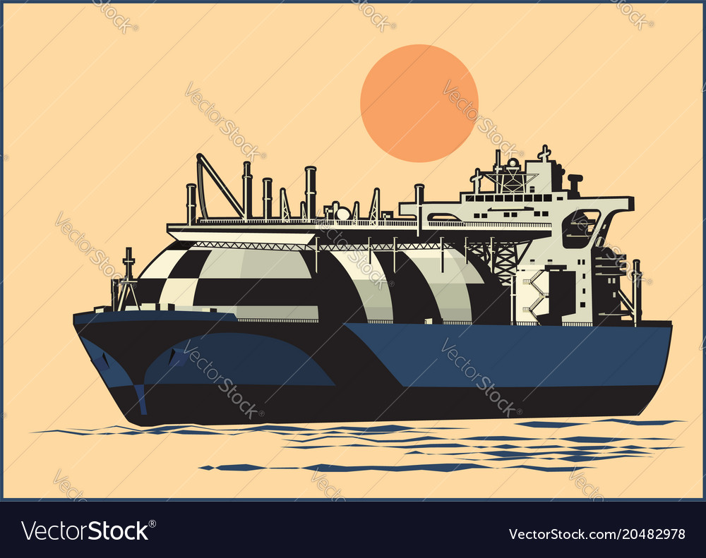 Natural gas tanker vector image