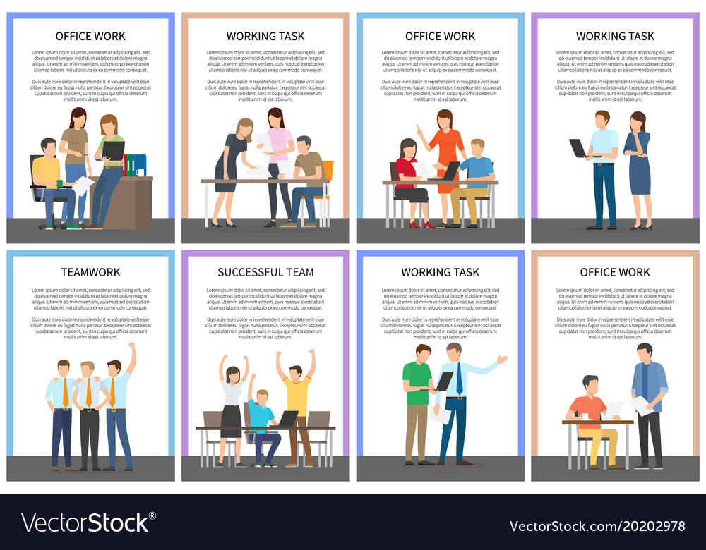 Office work and working task