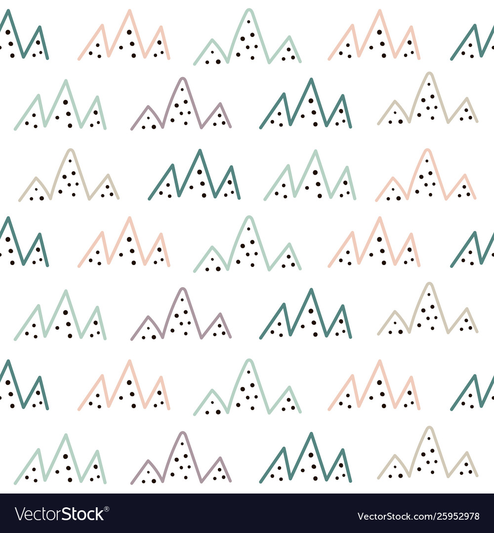 Tribal mountains seamless pattern