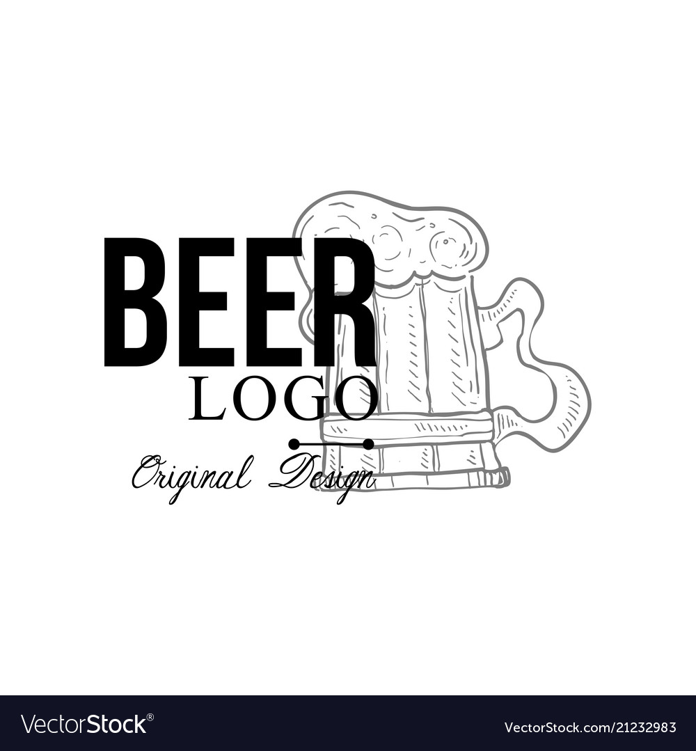 Beer logo original design retro emblem for food