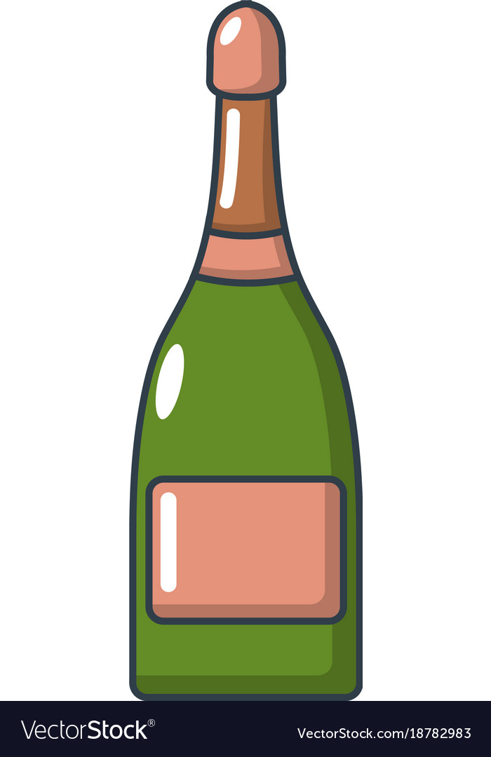 Champagne icon cartoon style