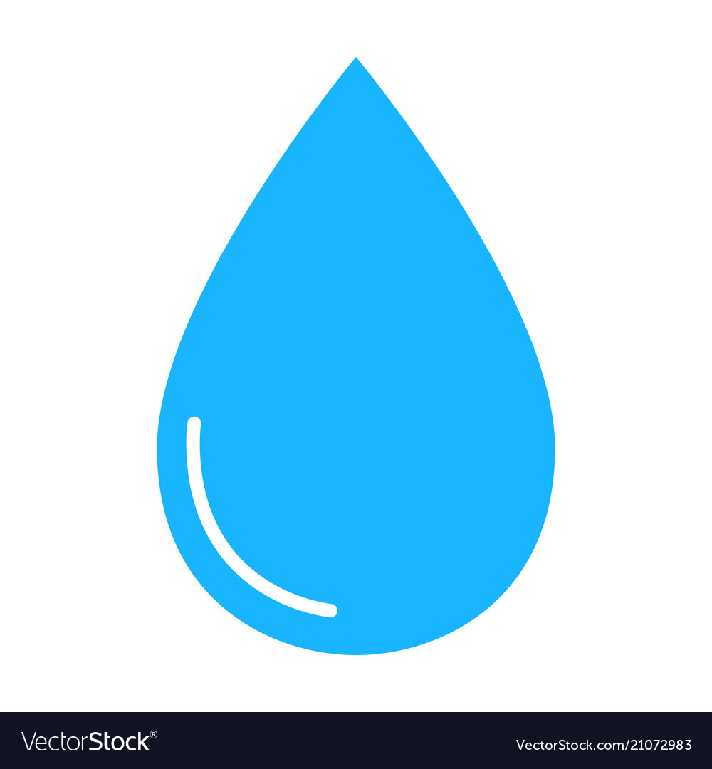 Color water drop icon isolated on background mode