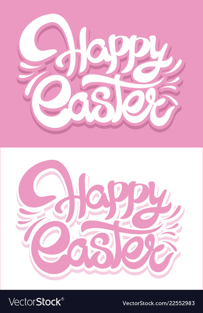 Easter creative lettering background