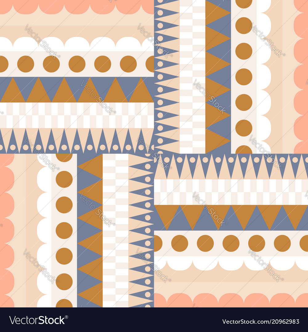 Ethnic color block rows seamless pattern