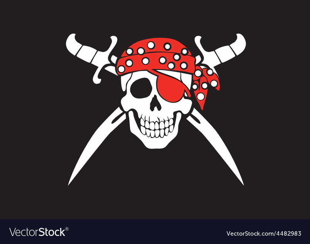 Jolly Roger Pirate Flag Royalty Free Vector Image