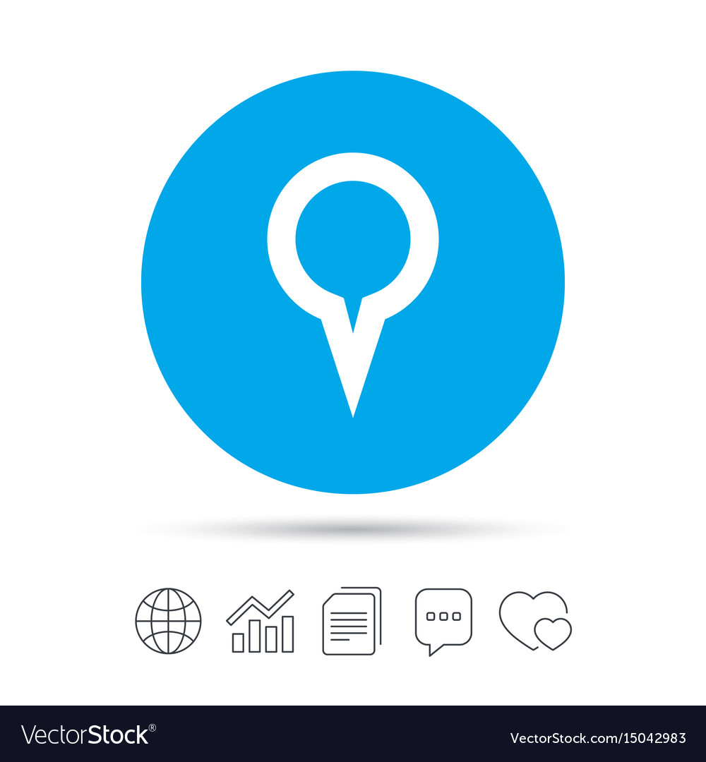 Map pointer sign icon marker symbol