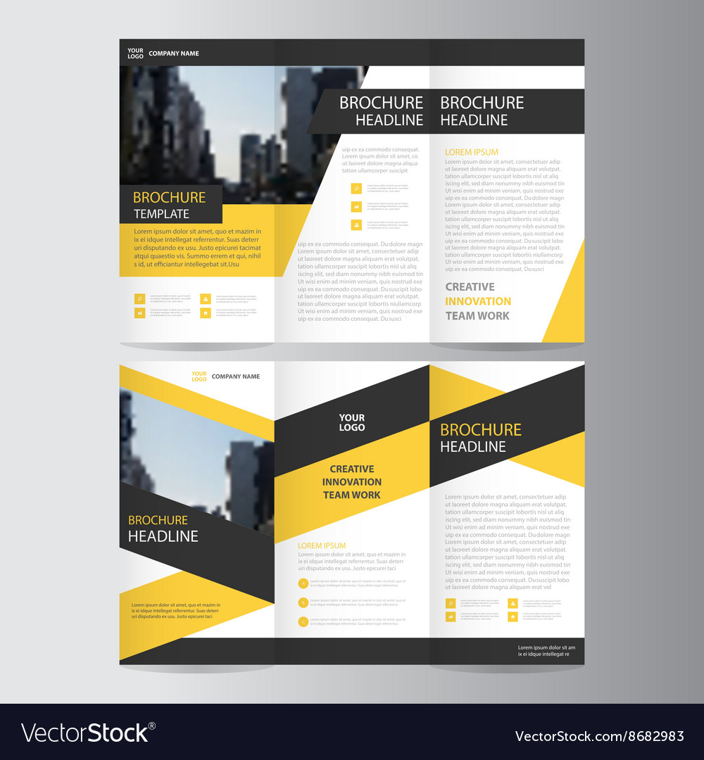 Trifold Leaflet Brochure Flyer Template Design Set