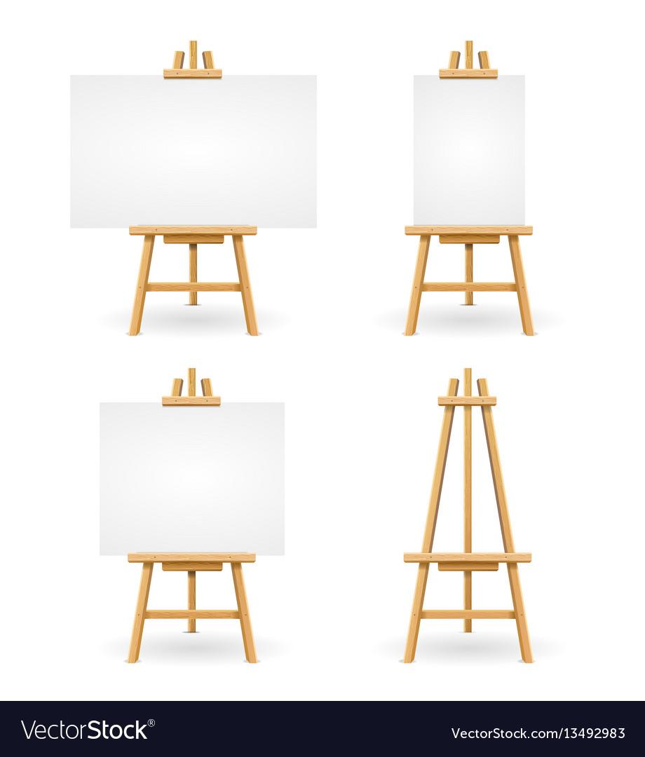 Wooden easel or painter desk